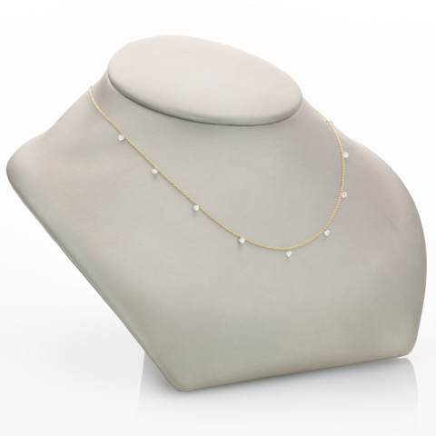 Floating Diamond Necklace by Paul Morelli