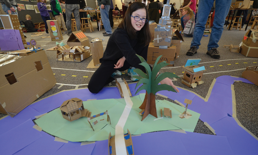 Expanding on the ideas and activities of Cardboard City (the Montshire's annual celebration of creative construction), this special at-home program invites participants to investigate the sustainability of our lives, homes and communities.