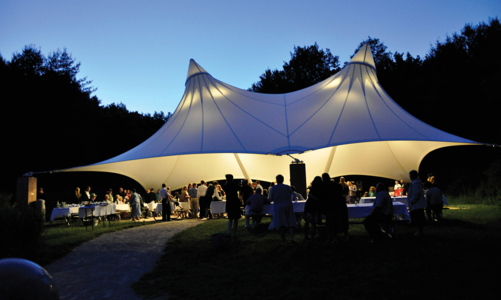 The Hughes Pavilion provides a unique outdoor setting for your event.