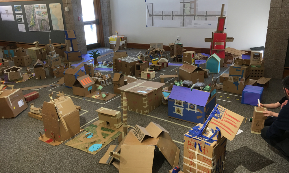 Join us for a week of videos, home projects, downloadable activities, and other learning resources as we build cardboard creations!