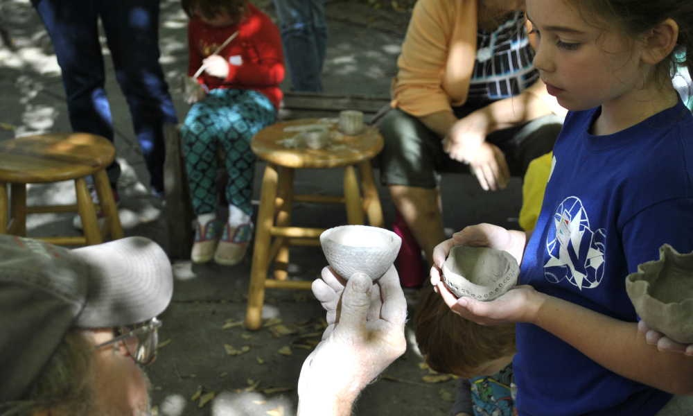 Get your hands dirty as you practice making pottery!