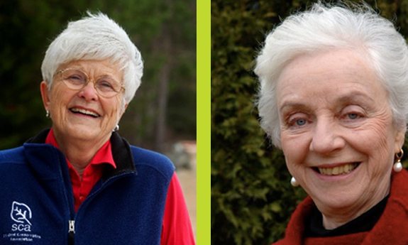 Liz Putnam (Founder of the Student Conservation Association) and Madeleine Kunin (Former Vermont governor and founder of the Institute for Sustainable Communities)