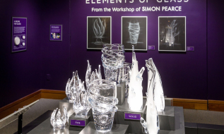 Elements of Glass: From the Workshop of SIMON PEARCE, explores the transformation process from sand to glass, from design to finished product.