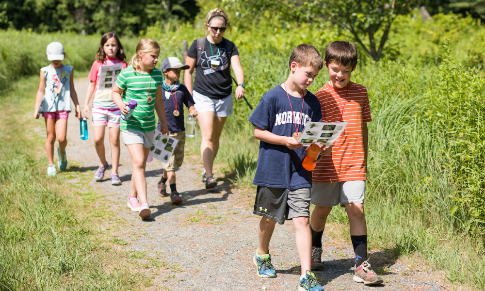 Explore the Montshire's outdoor exhibits and trails