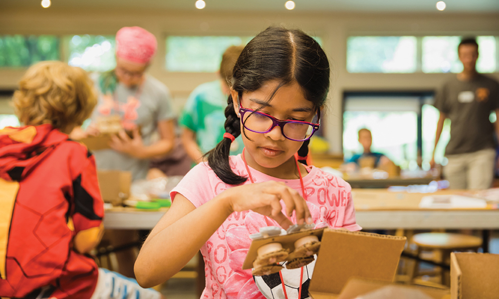 Montshire Makers is a program designed for curious and creative kids in grades 6–8.