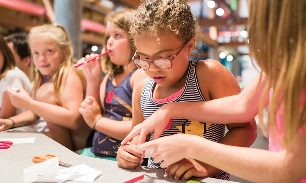 Make straw rockets at the Science Discovery Lab