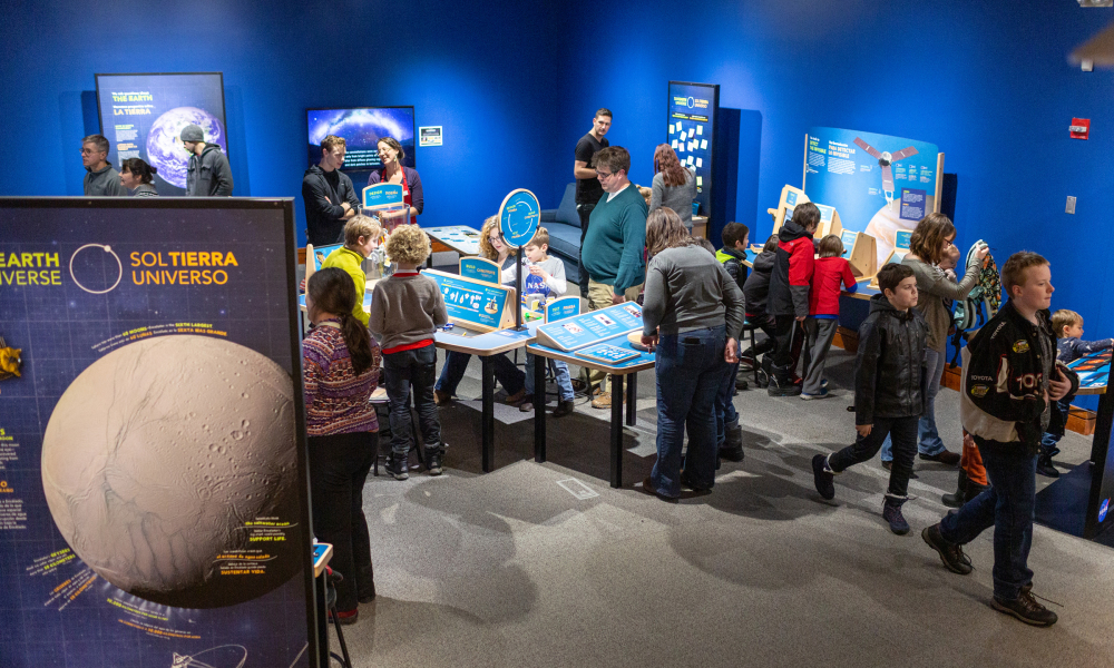 Sun, Earth, Universe is a new exhibition about our planet, the solar system, and the universe, and the big questions NASA is trying to answer about each.