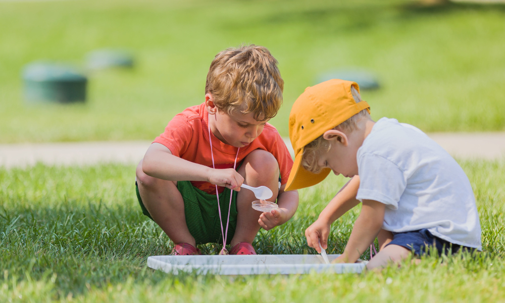 Young scientists explore pond water