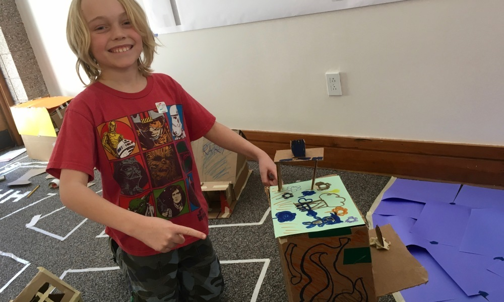 Explore the versatile material cardboard as we prototype, build, and design our own games and creations.