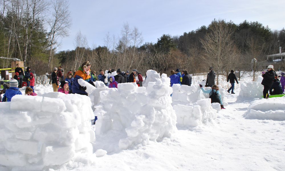 Igloo Build!  Dubbed the #1 Way to Winter Fun by Yankee Magazine!