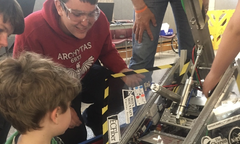 Check out a variety of cool, fun and wacky robots created by local students!